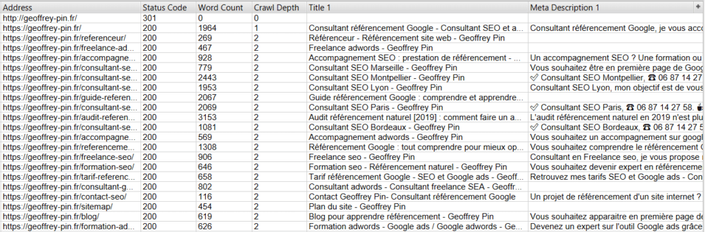 crawler - optimisation seo